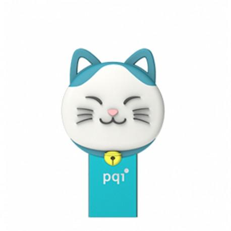 PQI Connect 303 Lucky Cat OTG Flashdisk Karakter Kucing - 16GB