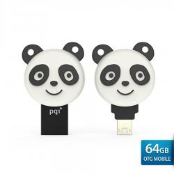 PQI Connect 304 Energetic Panda OTG Flashdisk Android - 64GB