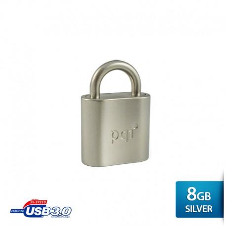 Pqi i-Lock Flashdisk USB 3.0 COB - 8GB Mac Silver