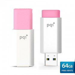 PQI U176L Flashdisk USB Traveling Disk – 64GB Pink-white