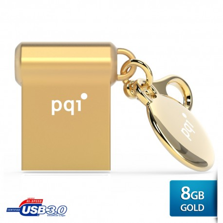Pqi i-mini II U838V Flashdisk USB 3.0 COB - 8GB Gold