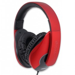 Oblanc SHELL200 Stereo Headphones with In-line Microphone & Call Control - NC3-1-Red