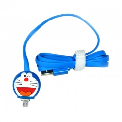 Kabel Data Micro USB LED Karakter - Doraemon
