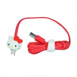 Kabel Data Micro USB LED Karakter - Hello Kitty