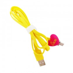 Kabel Data Micro USB LED Karakter - Love Doll