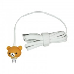 Kabel Data Micro USB LED Karakter - Rilakkuma
