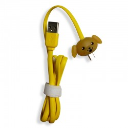 Kabel Data Micro USB LED Karakter - Doggy