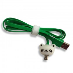 Kabel Data Micro USB LED Karakter - Panda