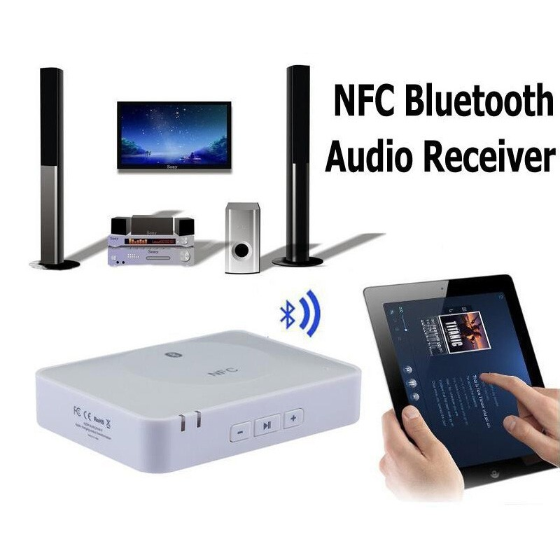 wireless home sound system. nfc ibt-08 bluetooth desktop home audio music receiver sound system speaker - black wireless .