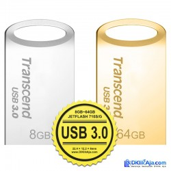 Transcend Flashdisk JetFlash 710 USB 3.0 - 8GB~64GB - Silver/Gold