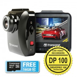 Transcend DrivePro 100 - Car Video Recorders (CVR DP100) + FREE MicroSD 16GB