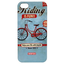 Vod'ex Hard Back Case Cover for iPhone 5/5S – Bicycle Riding