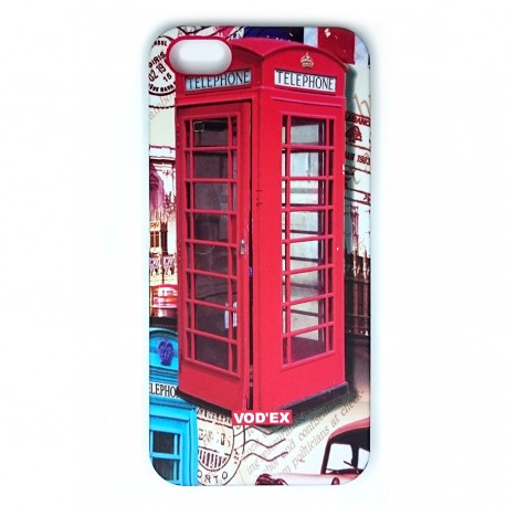 Vod'ex Hard Back Case Cover for iPhone 5/5S – Telephone Box