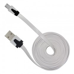 Cable Noodle Flat for Micro USB – White 2m