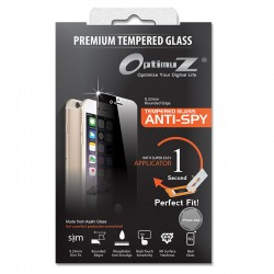 OptimuZ Tempered Glass Anti Spy with Applicator - iPhone 4