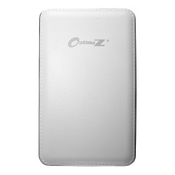 OptimuZ Power Bank Leather 10000mAh - White