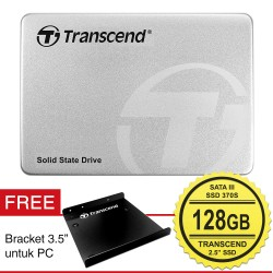"Transcend SSD 370S 2.5"" SATA III + Bracket PC - 128GB"