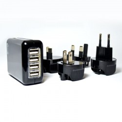 Optimuz 4in1 Universal Travel Charger Monte 2A - Hitam