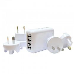 Optimuz 4in1 Universal Travel Charge - White