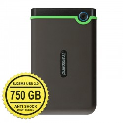 Transcend StoreJet 25M3 (USB 3.0) - 750GB Dark Grey - Hard Disk Eksternal