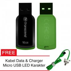 Transcend Flashdisk JetFlash 360 - 16GB FREE Kabel Micro USB Boneka