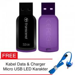 Transcend Flashdisk JetFlash 360 - 32GB FREE Kabel Micro USB Boneka
