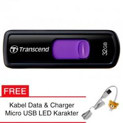 Transcend Flashdisk JetFlash 500 - 32GB FREE Kabel Micro USB Boneka