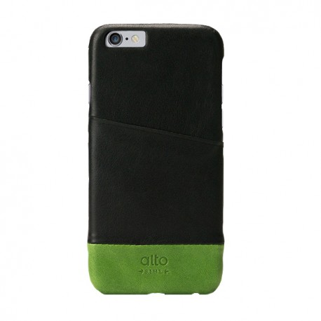 Alto Leather Case for iPhone 6 - Metro - Black / Green