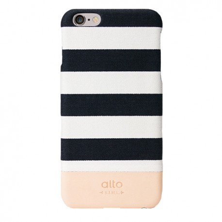 Alto Leather Case for iPhone 6 - Denim - Zebra White