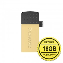 Transcend JetFlash 380G Flashdisk Mobile OTG - 16GB Gold