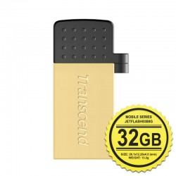 Transcend JetFlash 380G Flashdisk Mobile OTG - 32GB Gold