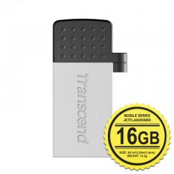 Transcend JetFlash 380G Flashdisk Mobile OTG - 16GB Silver