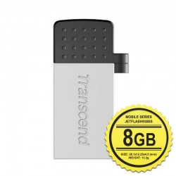Transcend JetFlash 380G Flashdisk Mobile OTG - 8GB Silver