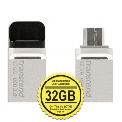 Transcend JetFlash 880S Flashdisk Mobile OTG USB3.0 - 32GB Silver