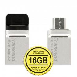 Transcend JetFlash 880S Flashdisk Mobile OTG USB3.0 - 16GB Silver