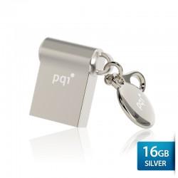 Pqi i-Mini II U838L Flashdisk USB 2.0 Waterproof & Shockproof - 16GB Mac Silver