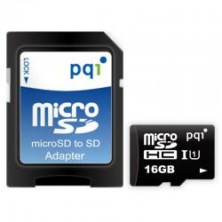 PQI Micro SDHC UHS-1 Class 10 Kartu Memori 16GB + Adapter