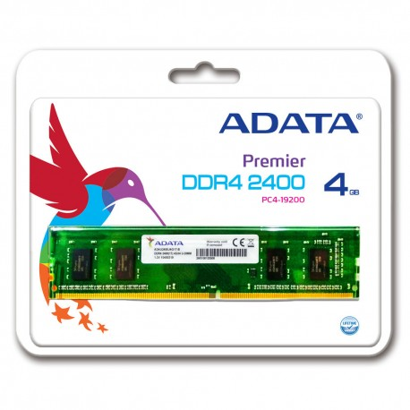 ADATA Premier DDR4 2400 U-DIMM PC4-19200 Memory - 4GB
