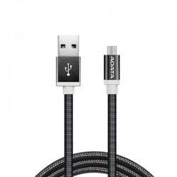 ADATA Kabel Data & Charge Micro USB Aluminium 100cm - Hitam