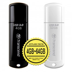 Transcend JetFlash 700 dan 730 Flashdisk USB 3.0 - 4GB~64GB