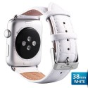 OptimuZ Premium Croc Leather Watch Band Strap for Apple Watch - 38mm White