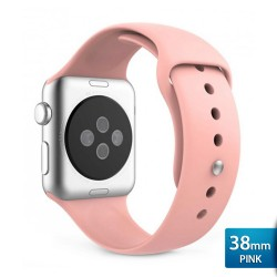 OptimuZ Premium Sport Silica Watch Band Strap for Apple Watch - 38mm Pink