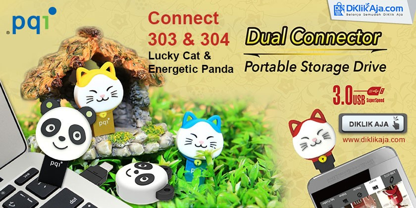 Review Flashdisk PQI OTG Dual Connector - Lucky Cat & Energetic Panda